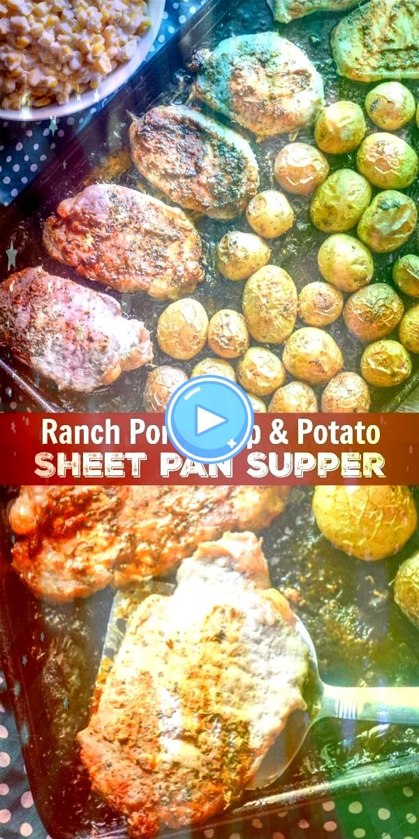 Pork Chop  Potato Sheet Pan Supper  A complete meal baked on a single pan this dinner takes the traditional meat  potatoes pair Ranch Pork Chop  Potato Sheet Pan Supper...