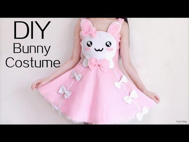 c3b8e9fe55 Cute Halloween DIY  Bunny Costume.Dress