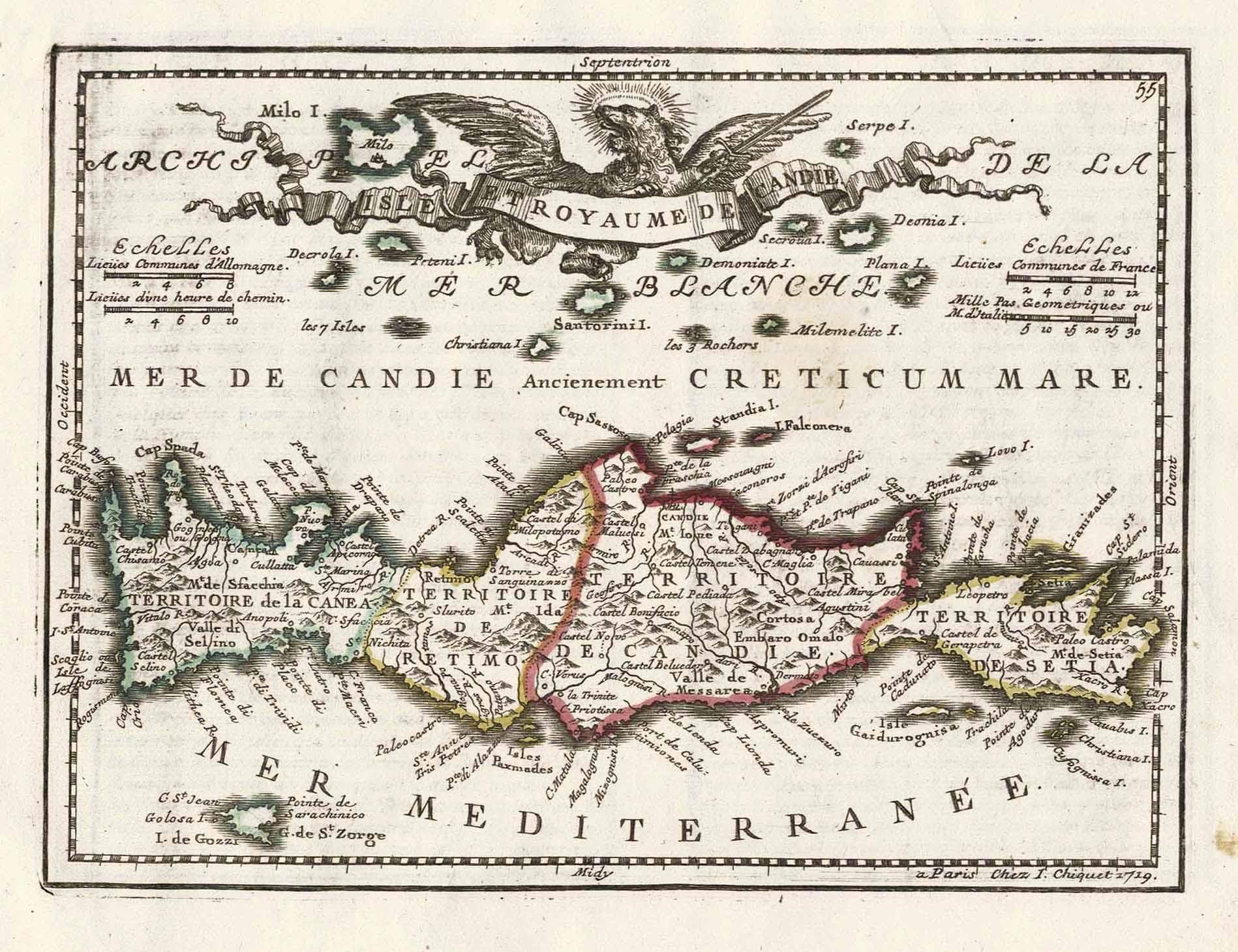 1719 Map Of Crete
