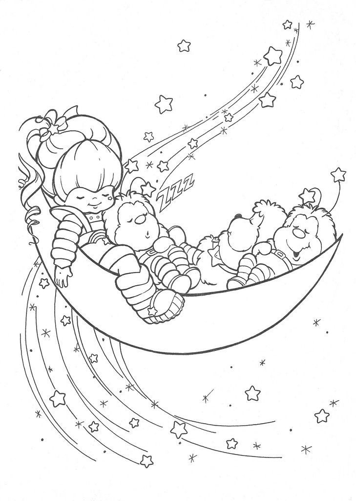 Rainbowbrite Moon Coloring Pages