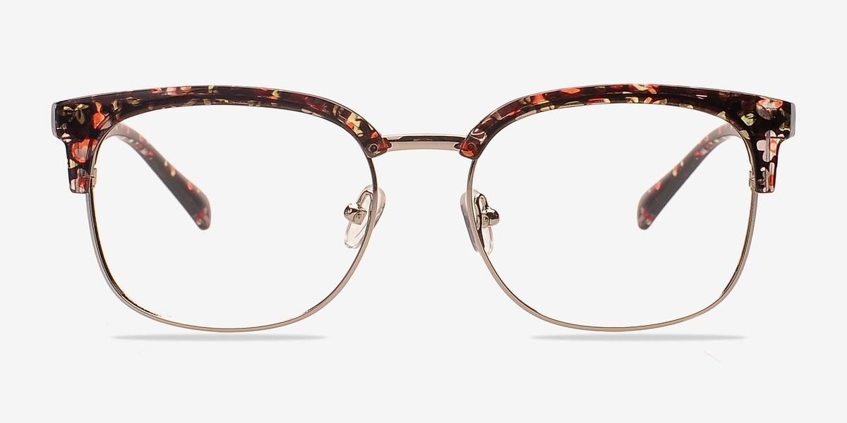 a236230e004 Charleston Silver Floral Plastic Eyeglasses from EyeBuyDirect. Discover exceptional  style