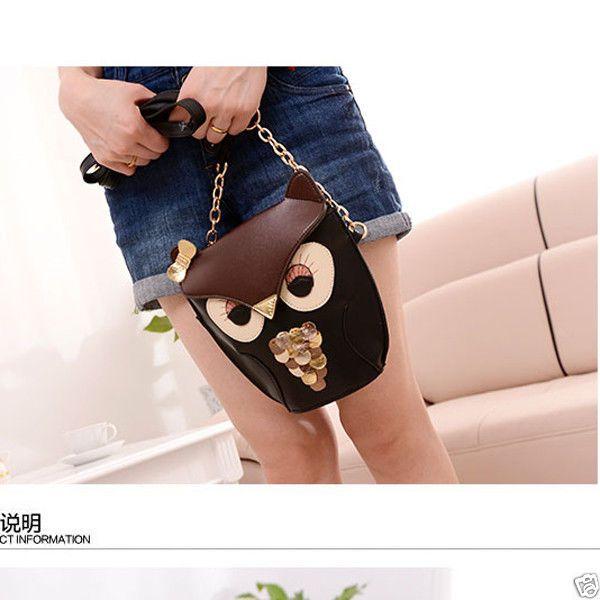 Women Bags Cute Owl Satchel Messenger Girls Shoulder Handbag CrossBody BAG | eBay