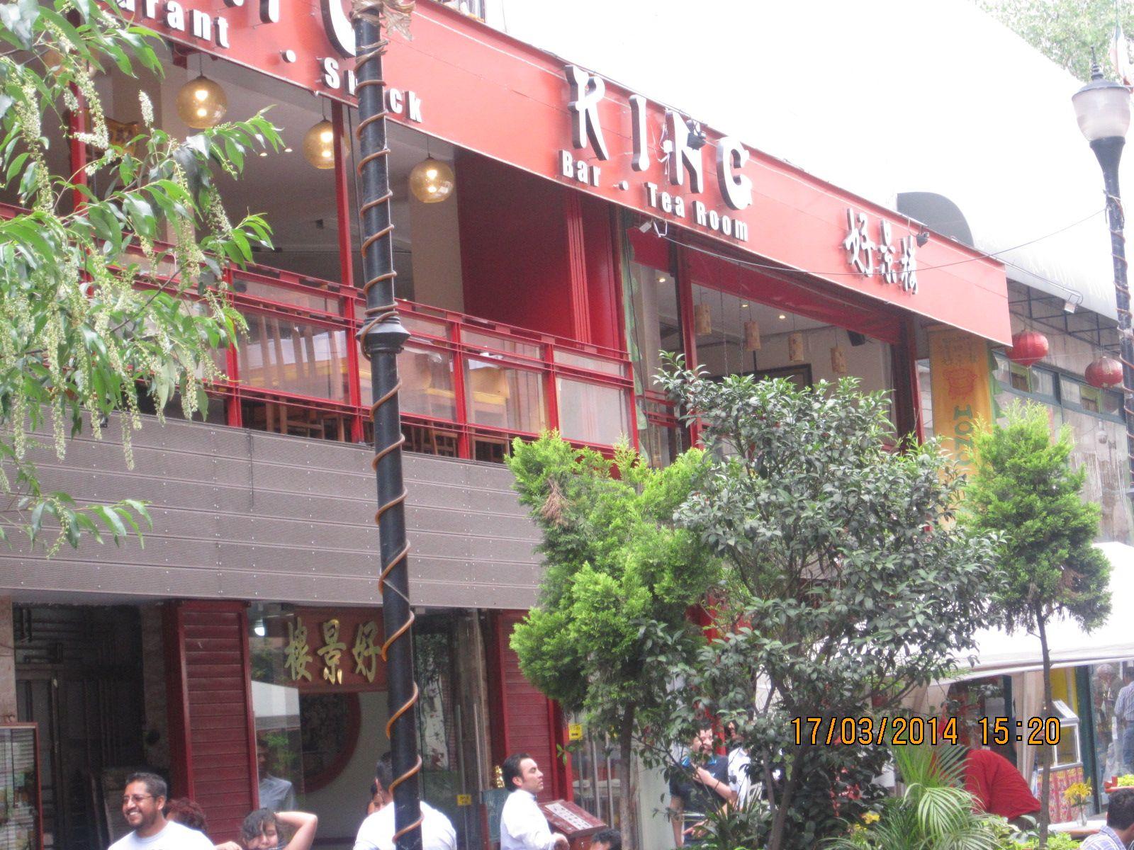 Este restaurante se nos hizo de los más ambientados e inclinados a traer China a México, por su estructura.