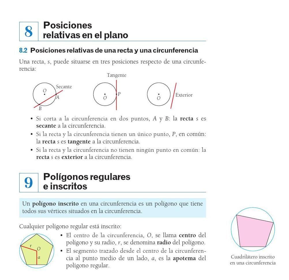 Mates 1ºeso Avanza Santillana Matematicas Planos Secante