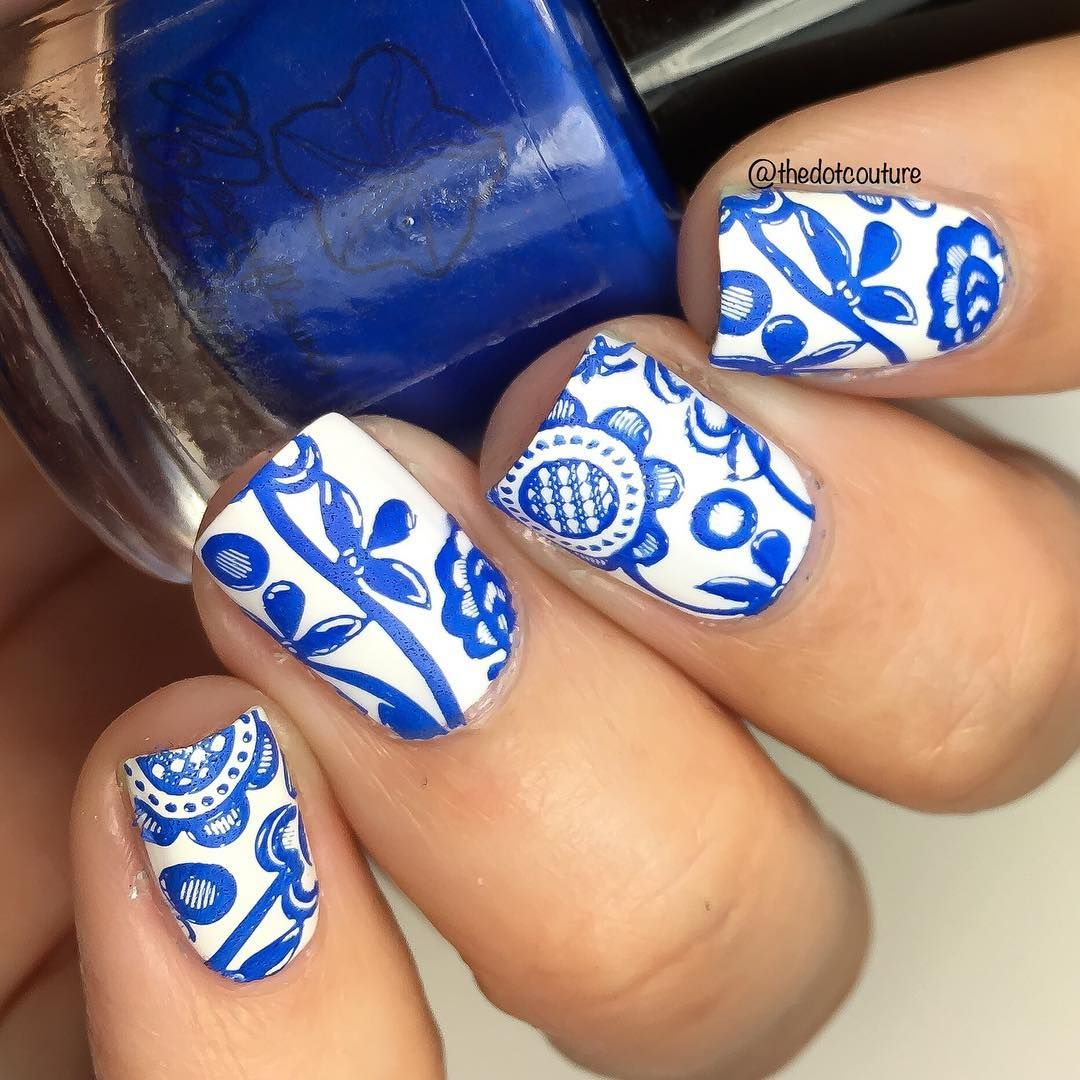 "178 Me gusta, 7 comentarios - Jenny (@thedotcouture) en Instagram: ""This is Azul from @moonflowerpolish - what a blue!!! I know it would be the perfect pairing with…"""