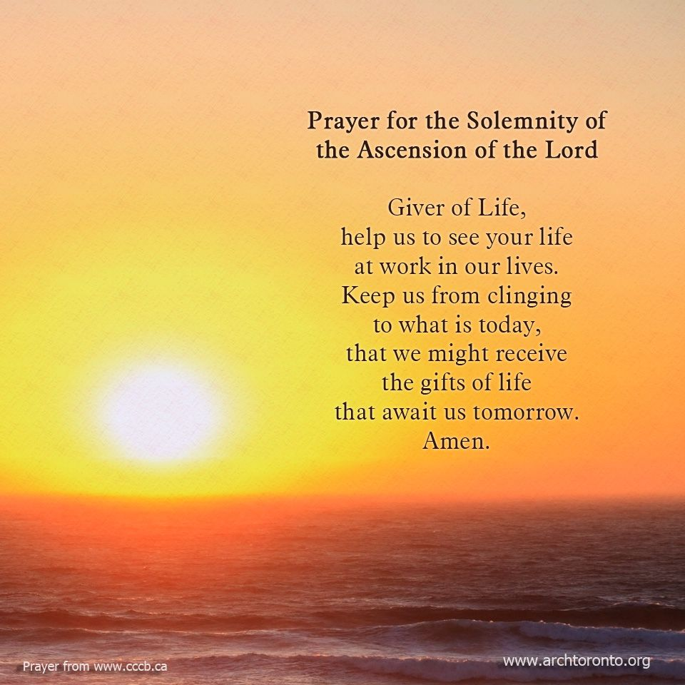 prayer for the solemnity of the ascension of the lord prayers
