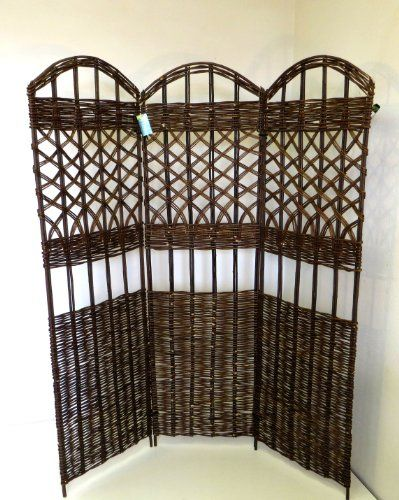Master Garden Products 3 Panel Willow Screen Divider, 54 By 60 Inch Master