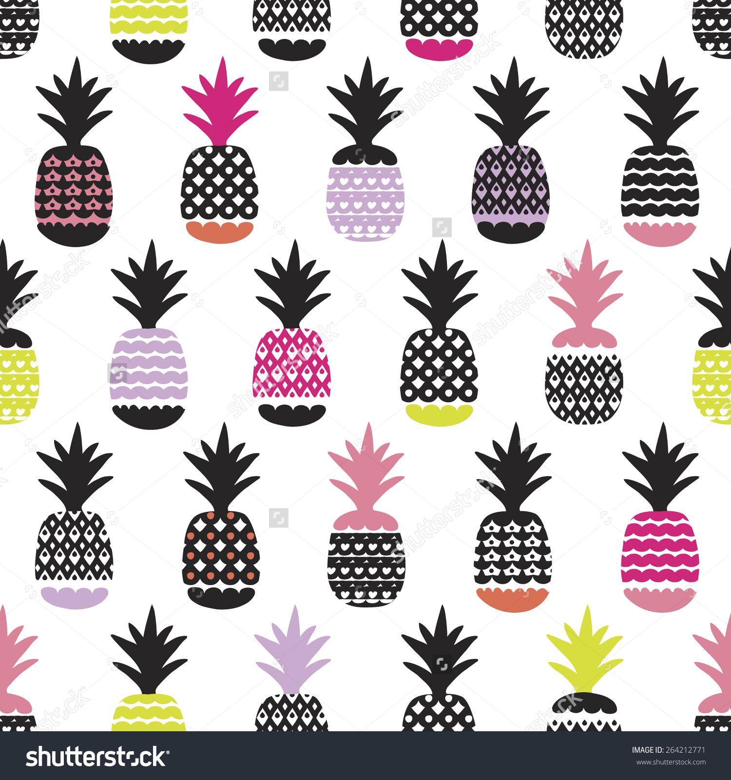 f556418aed Seamless pineapple retro summer bikini beach theme fruit hot trendy  illustration background pattern in vector