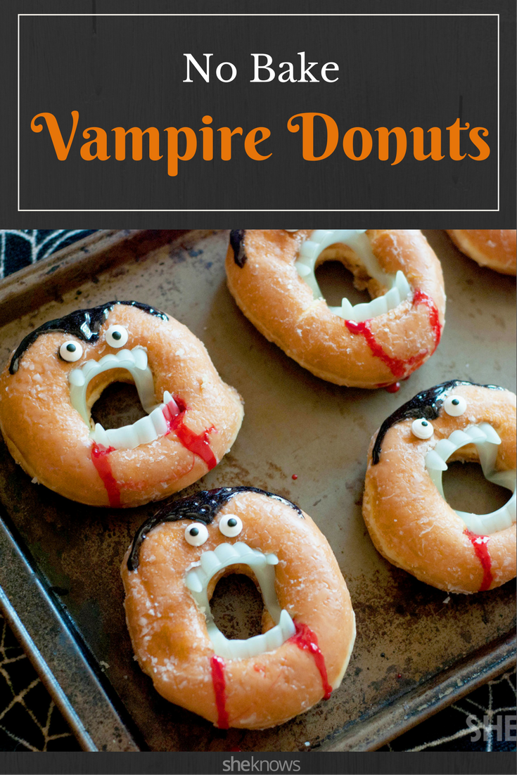 Grab a dozen glazed doughnuts and some vampire teeth for the ...