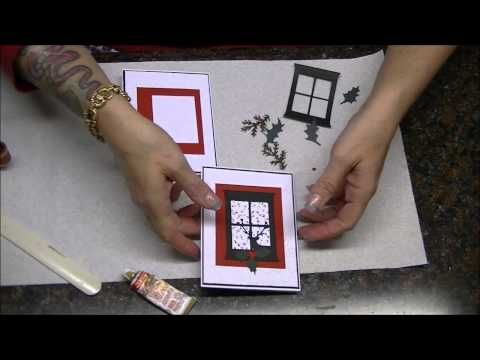 ▶ Tutorial for My Favorite Christmas Card to Make - YouTube.  Madison Window die by Memory Box.