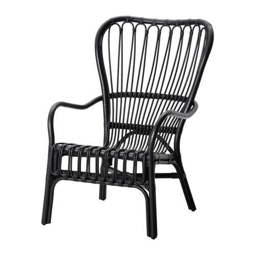 storsele sessel mit hoher r ckenlehne schwarz rattan sessel ikea und naturmaterialien. Black Bedroom Furniture Sets. Home Design Ideas
