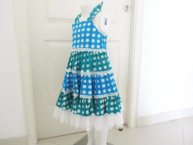 Sewing Pattern Tiered Polka Dot Dress (pdf pattern for sale ...