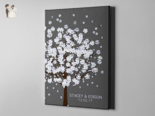 SALE 50% Off Canvas Guest Book, Guest Signature Winter Tree ...