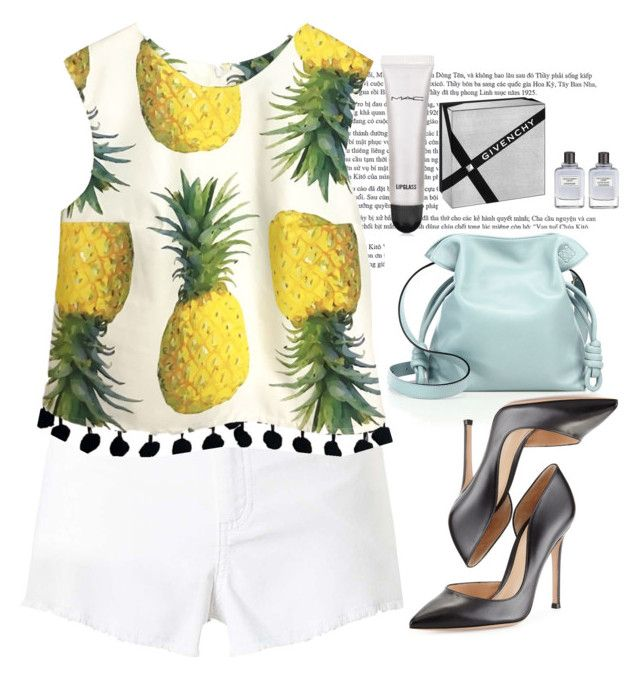 """Pineapples"" by martinezmariamm on Polyvore featuring Loewe, Miss Selfridge, Gianvito Rossi, MAC Cosmetics and Givenchy"