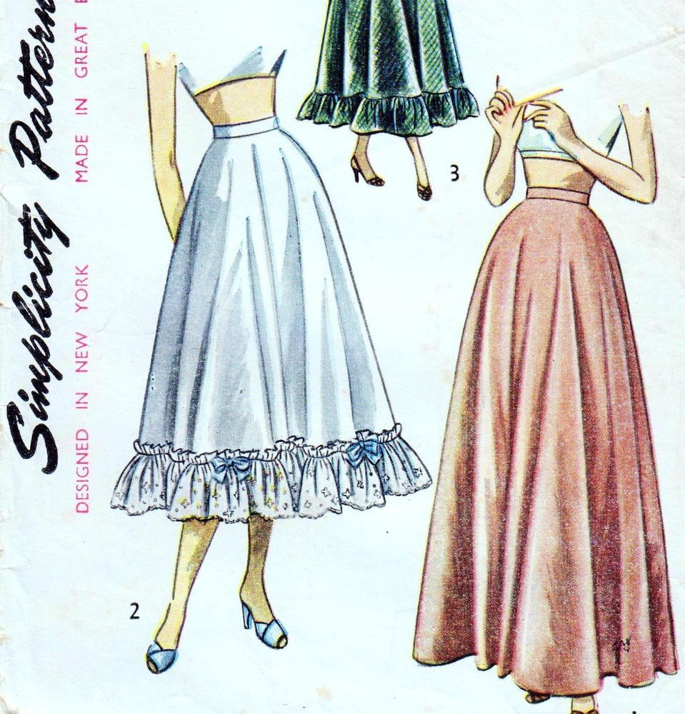 Easy vintage s full skirt u petticoat sewing pattern waist