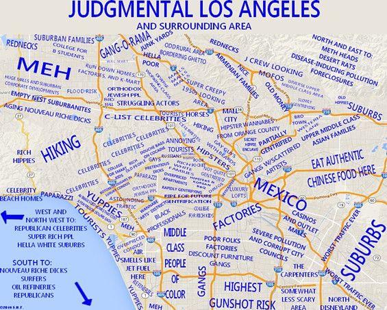 Ha Ha La La Land With Images Los Angeles Map Map Los Angeles