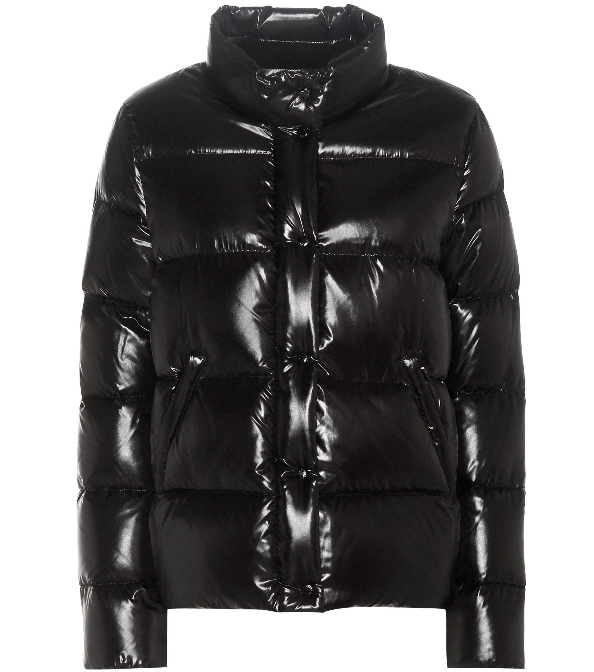 MONCLER Brethil black down jacket Dámská móda, Moda