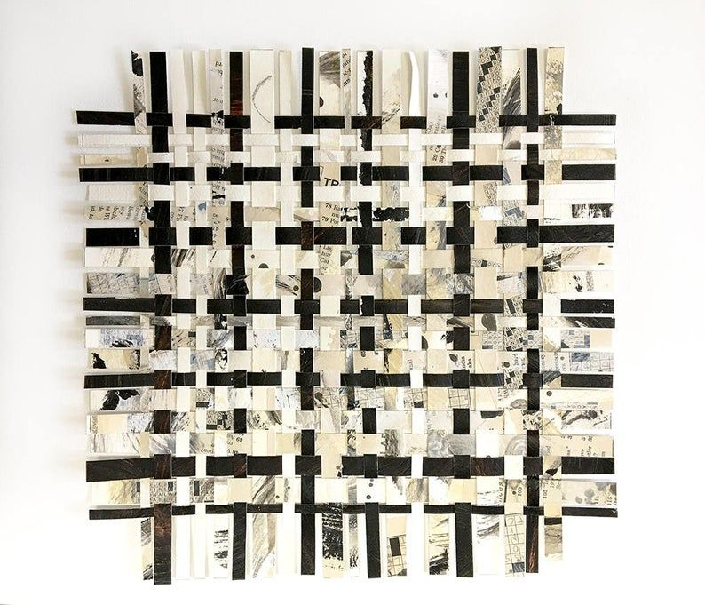 Crossword Weaving Art 12x12 Puzzle Art Abstract Art Woven