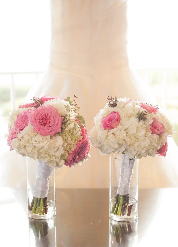 Pink Garden Rose And Hydrangea Bouquet weddings at ocean point suites - florida keys weddings - pink