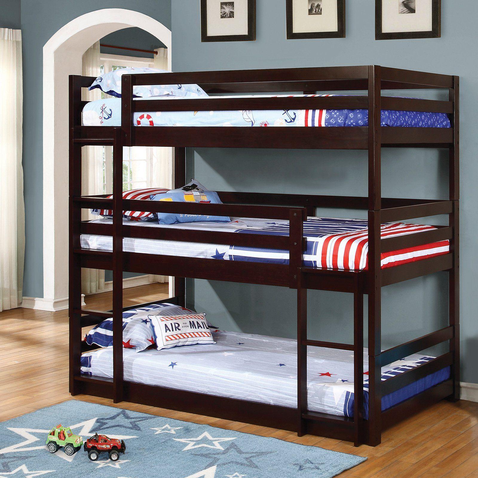 Coaster Furniture Triple Layer Bunk Bed 400302 Twin