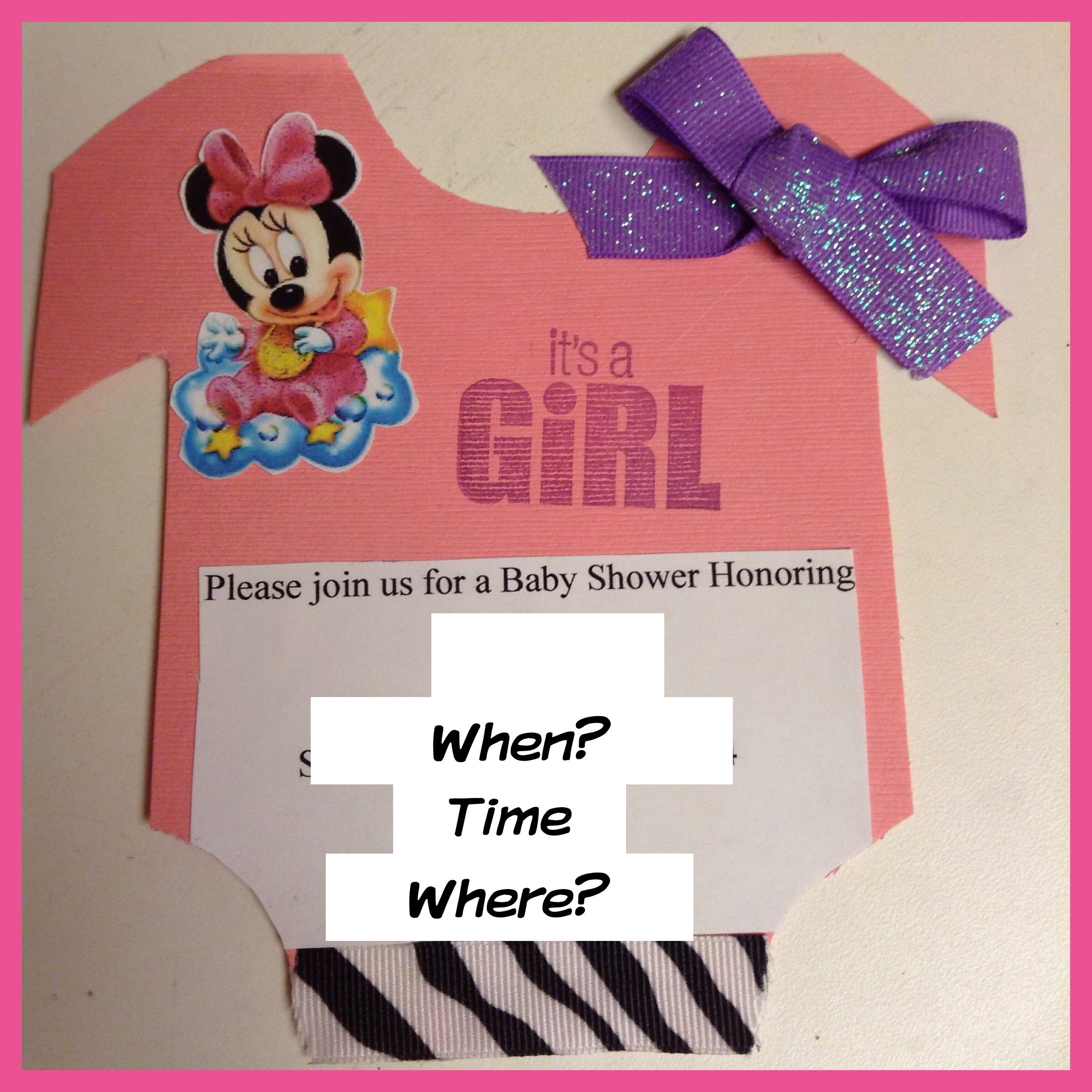 Baby Shower Invitations <3 - Made By Me <3