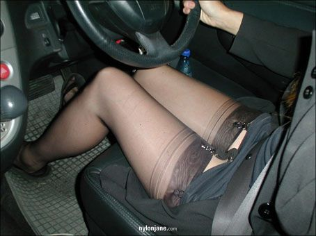Julia in fishnet pantyhose fucking her lucky slave 7