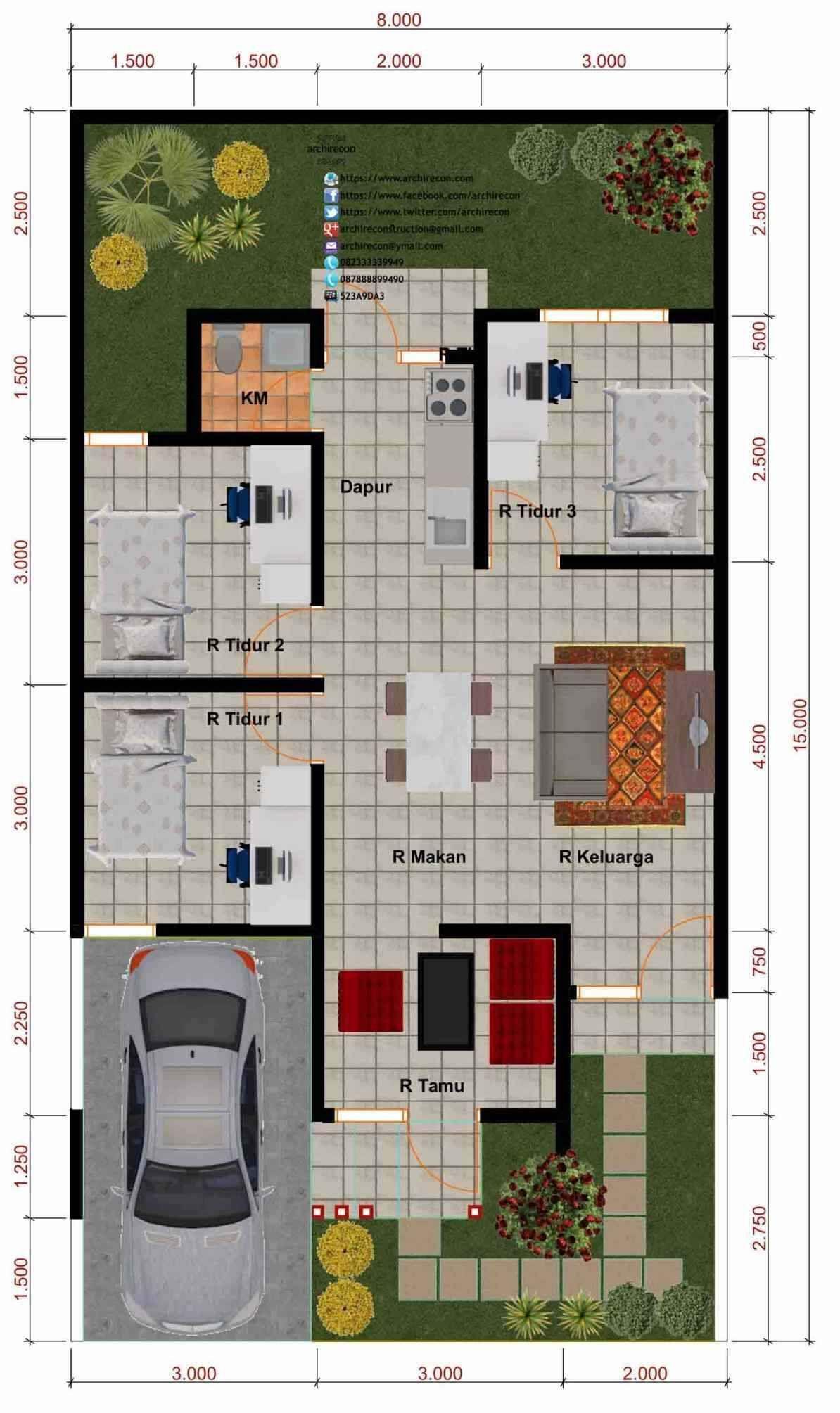 71 Foto Beragam Desain Rumah Minimalis Modern 2 Lantai Ukuran 8x10 Dari Rumah Minimalis Sederhana Kamar 2 Desainkan Denah Rumah House Blueprints Desain Rumah