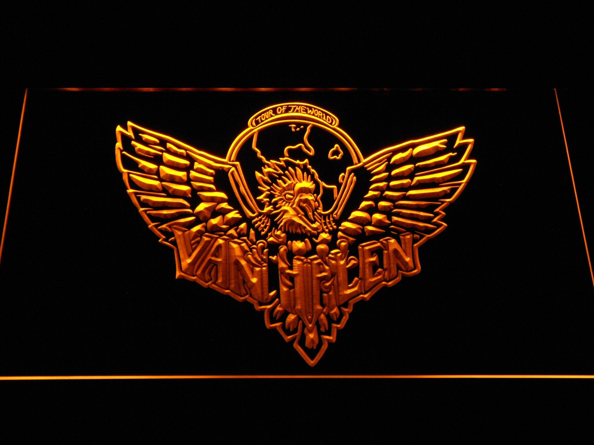Van Halen Eagle Led Neon Sign Led Neon Signs Neon Signs Cool Bedroom Accessories