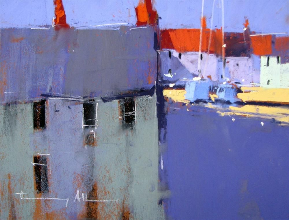 """Holiday Homes!"" original fine art by Tony Allain"