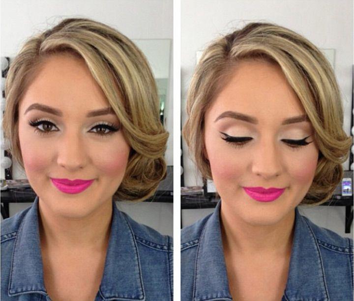 Photo of Wedding Day Makeup – Eyelashes, Eyeshadow, Lipstick, Gloss