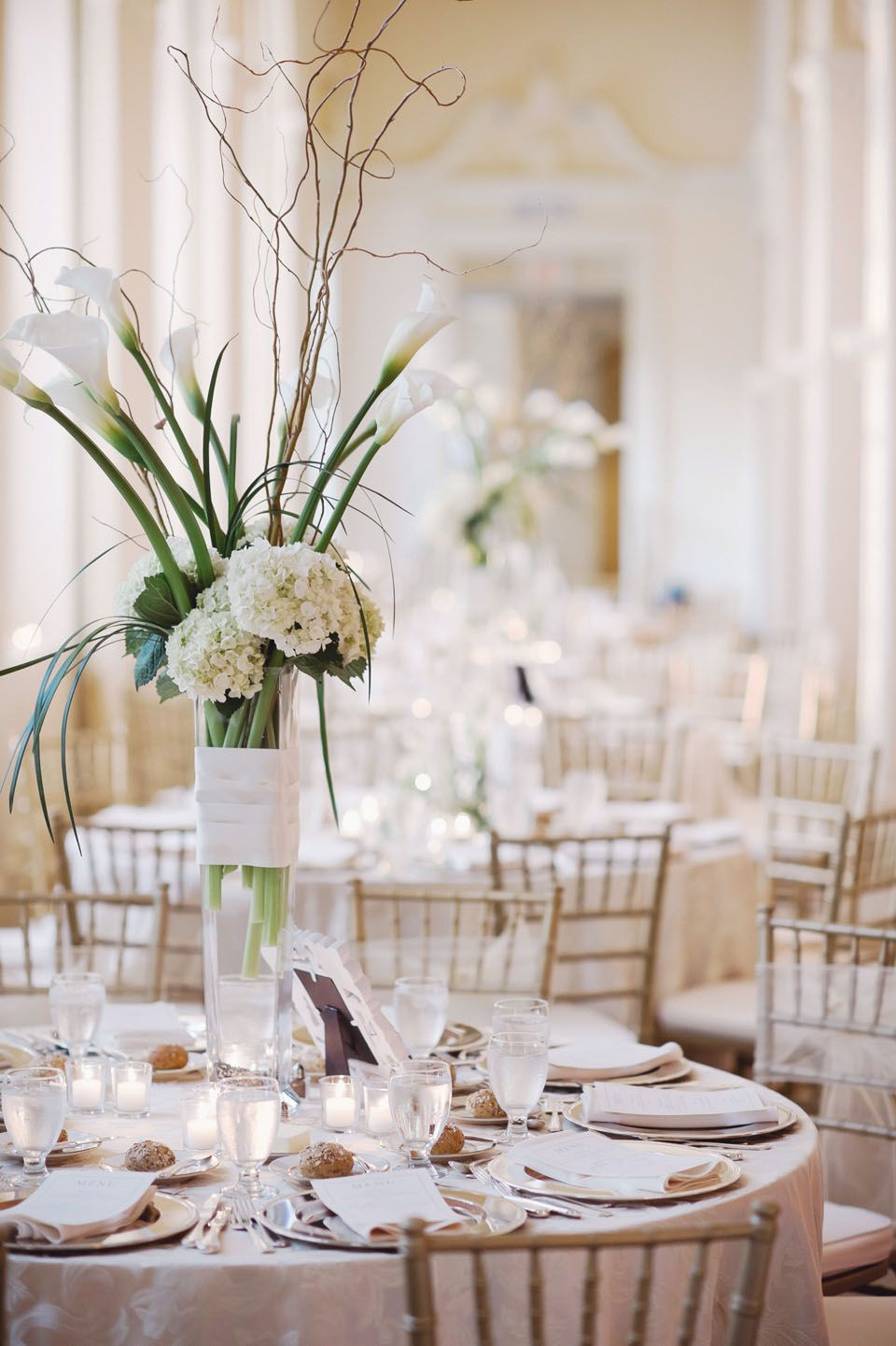 Tall White Wedding Centerpiece Ideas | Pinterest | Wedding ...