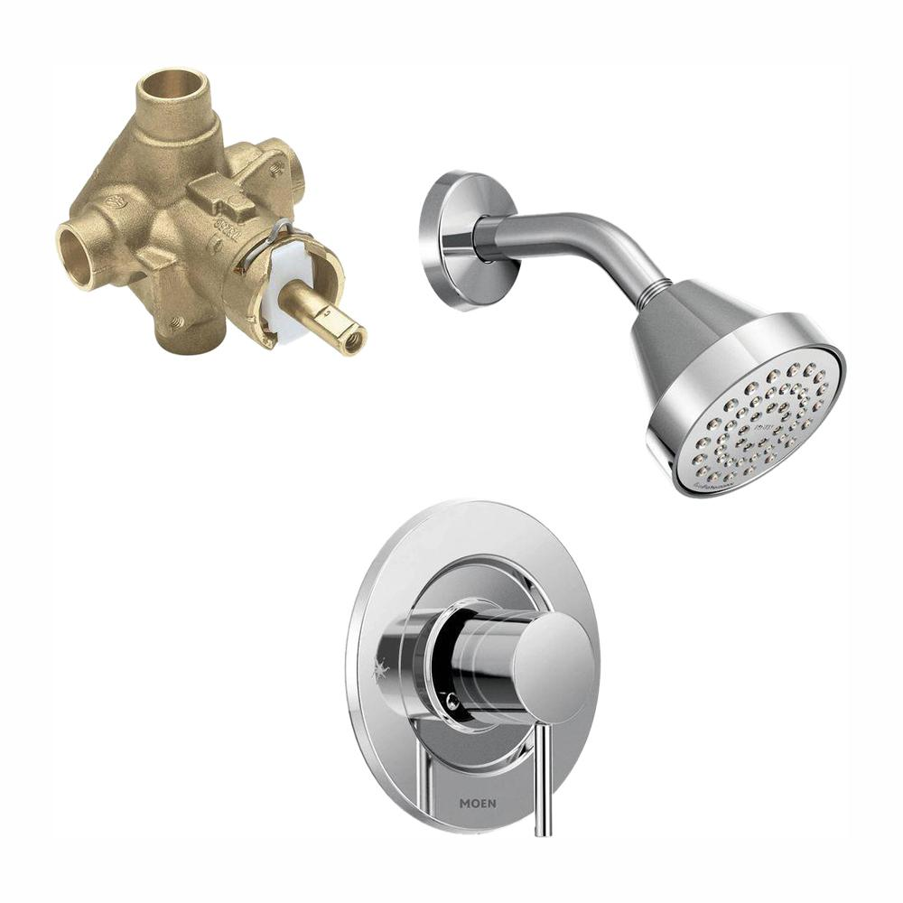 Moen Align Single Handle 1 Spray Shower Faucet Trim Kit With Valve