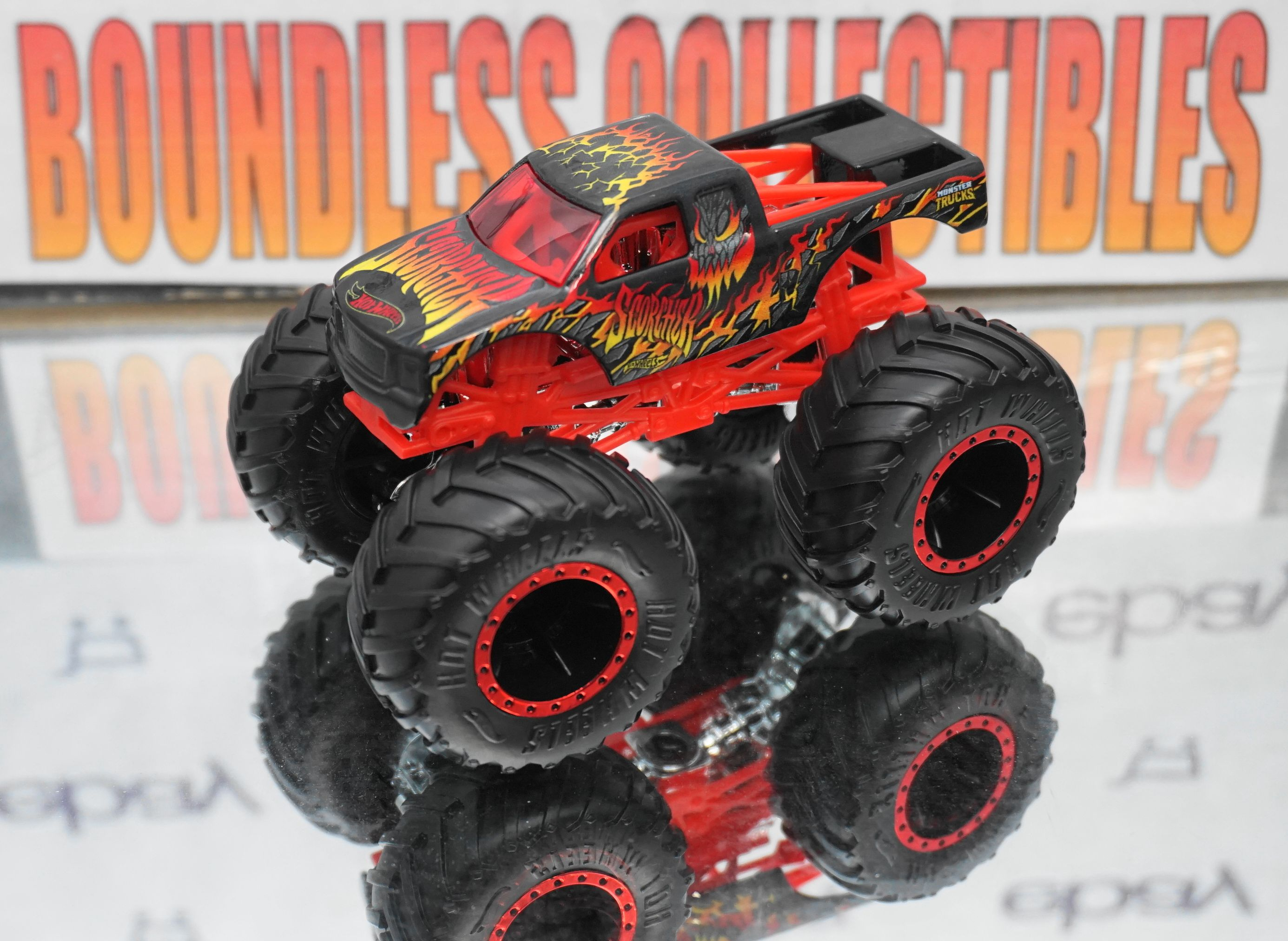 2018 Hot Wheels Monster Truck Scorcher Check Out All Of Our Die Cast Boundlesscollectibles Com Monster Trucks Hot Wheels Hot Wheels Monster Jam