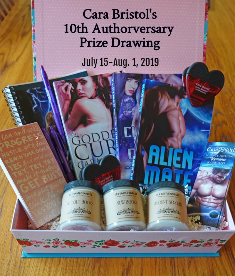 Cara Bristol's 10th Authorversary $200 Prize Giveaway