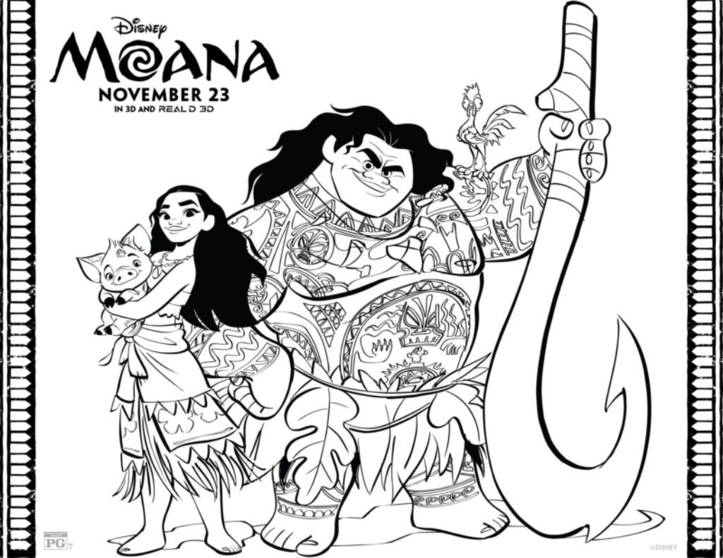free moana coloring pages set free printables daily pinterest