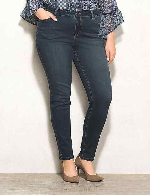 cbd02871db WESTPORT Plus Size Signature Fit Studded Skinny Jeans