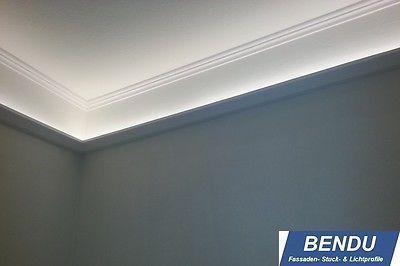Spectacular Details zu BENDU LED Stuckleisten Lichtprofile f r indirekte Beleuchtung Decke Stuckprofile