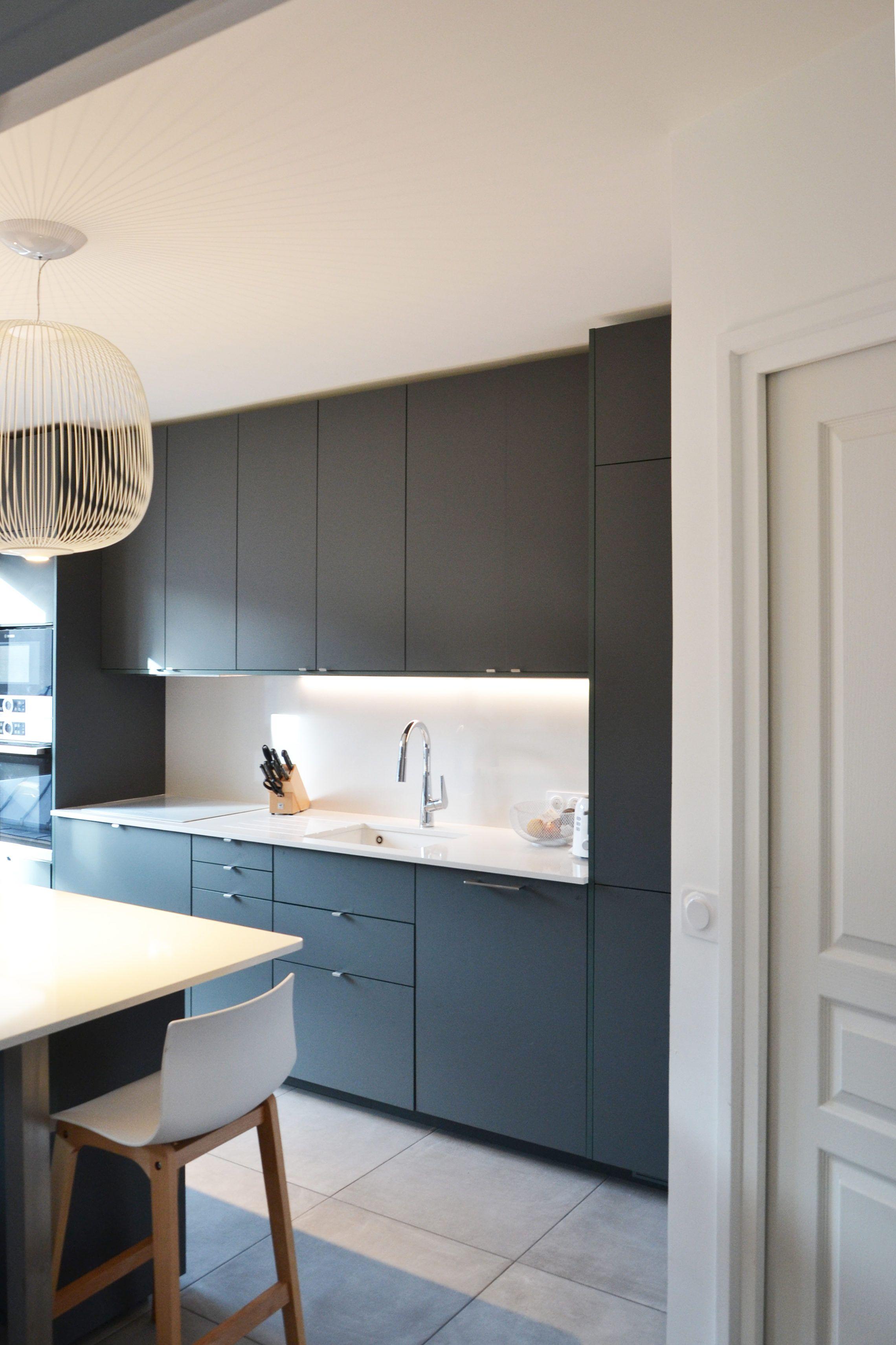 Porte Cuisine Sur Mesure Ikea galerie de photos (avec images) | cuisine sombre, cuisines