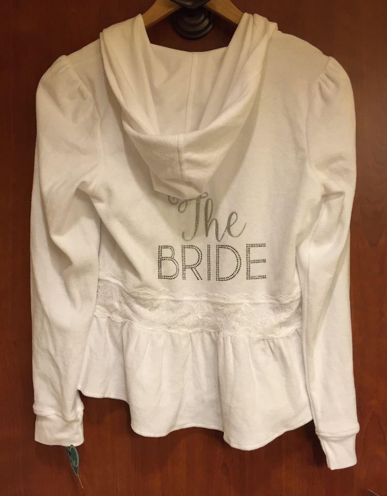 ebd1ec6034 ☀NWT☀BETSEY JOHNSON WHITE THE BRIDE BRIDAL TERRY LACE HOODIE JACKET WEDDING  S