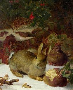 stilllifequickheart:  Eloise Harriet Stannard Winter - Rabbit and Swedes 19th century
