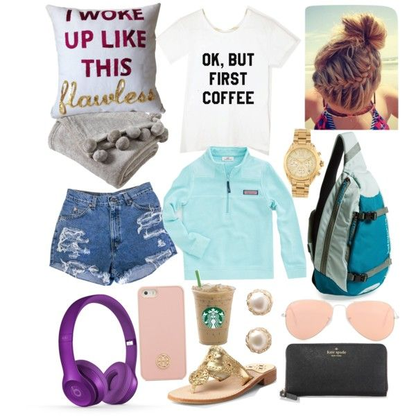 Traveling Essentials by addisonoliviatate on Polyvore featuring polyvore, fashion, style, Jack Rogers, Kate Spade, Patagonia, Michael Kors, YooLa, Ray-Ban, Tory Burch, Victoria Classics, Beats by Dr. Dre and Vineyard Vines