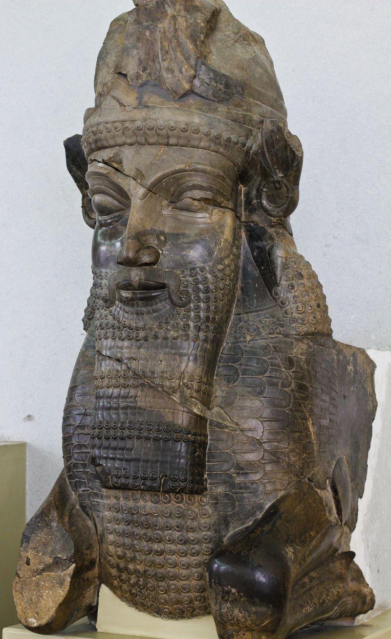 A human-headed capital from Persepolis.