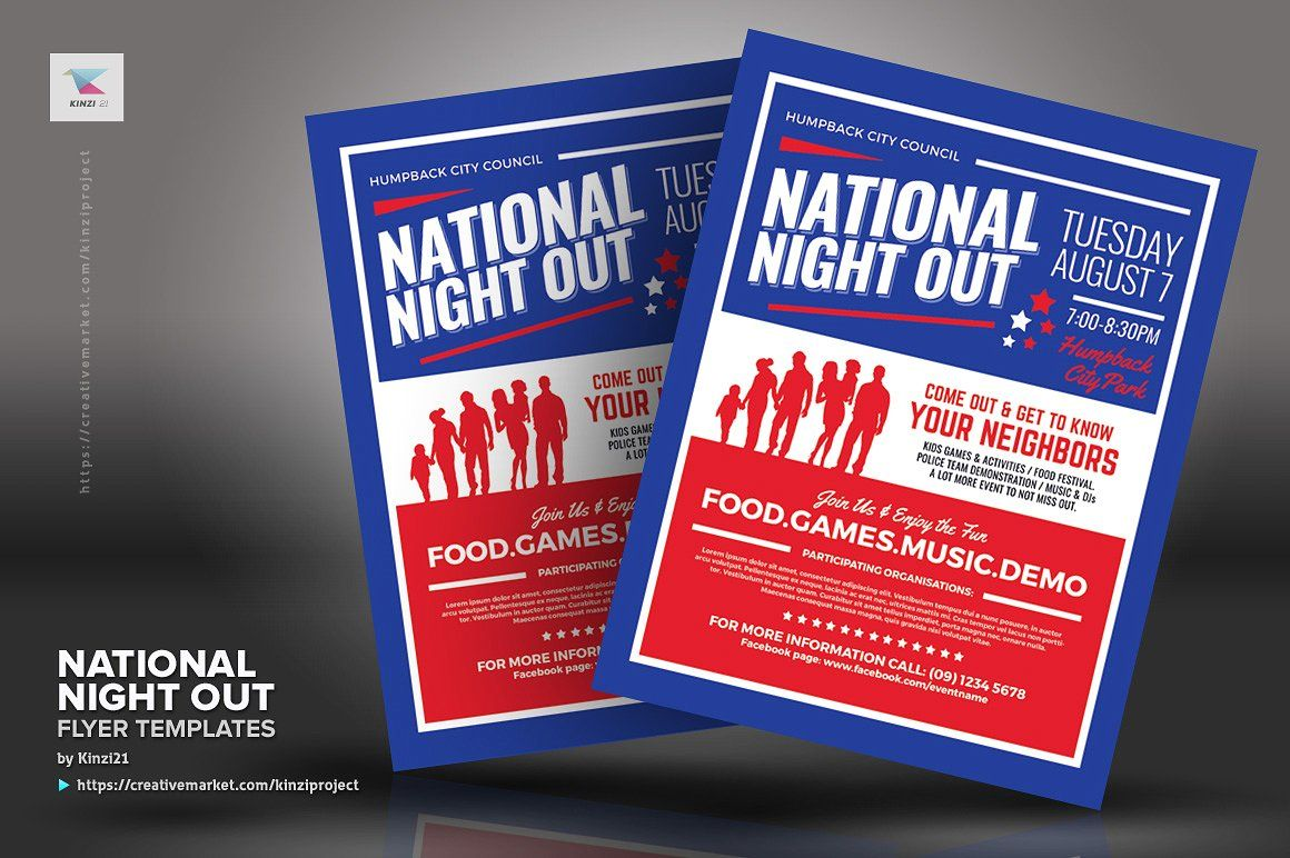 Pin By Dale Holland On National Night Out Pinterest Flyer