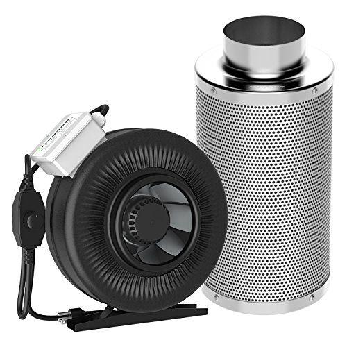 Cheap VIVOSUN 440 CFM 6″ Inline Duct Fan with 6″ Carbon ...