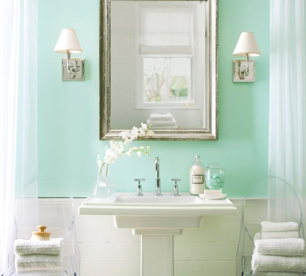 Ready To Change My Bathroom From Grey Sea Foam Seafoam Green Room Ideas A Clear Gl Bowl Sink Would Look Great