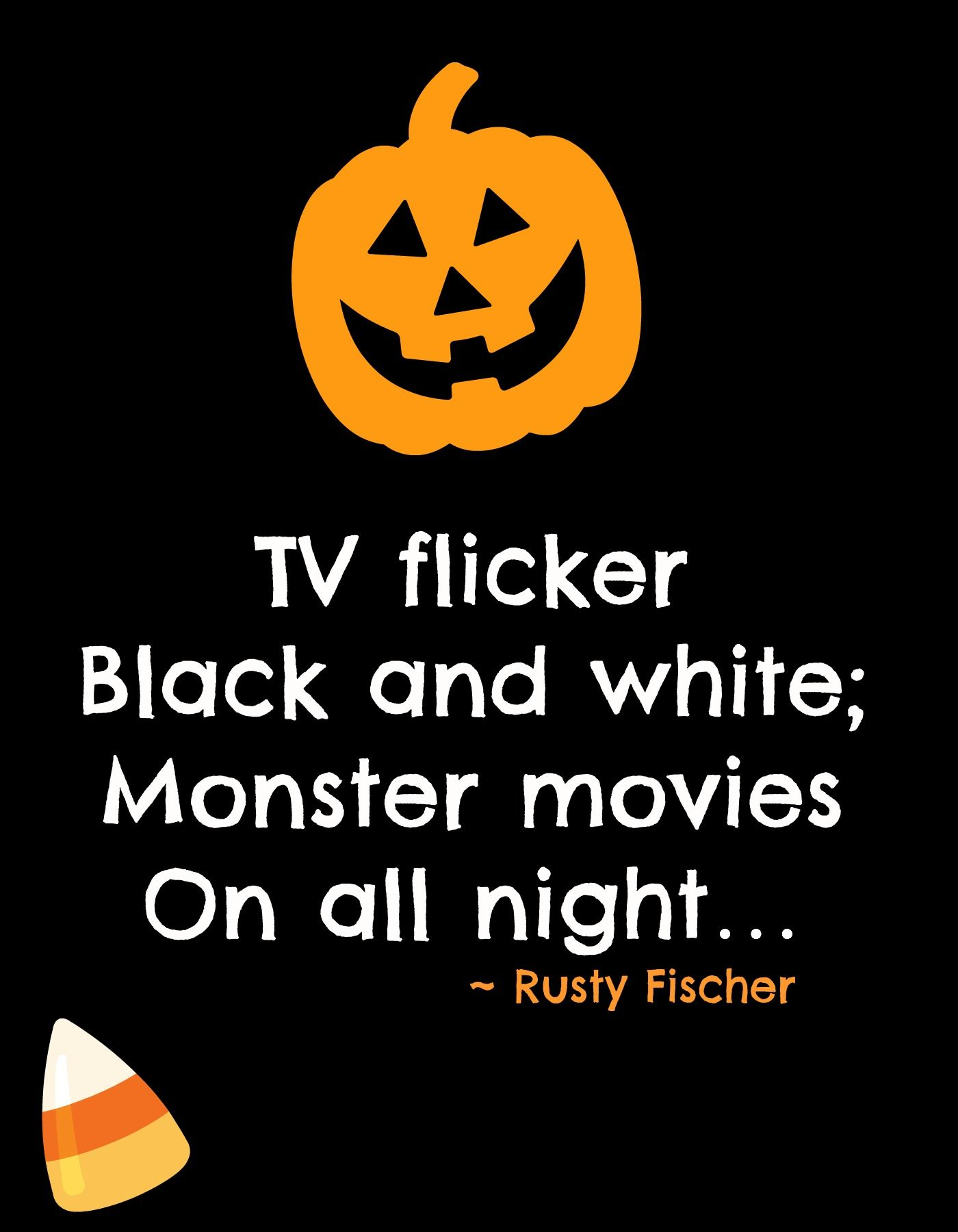 Monster Movies A Halloween Poem Halloweeny Screamy