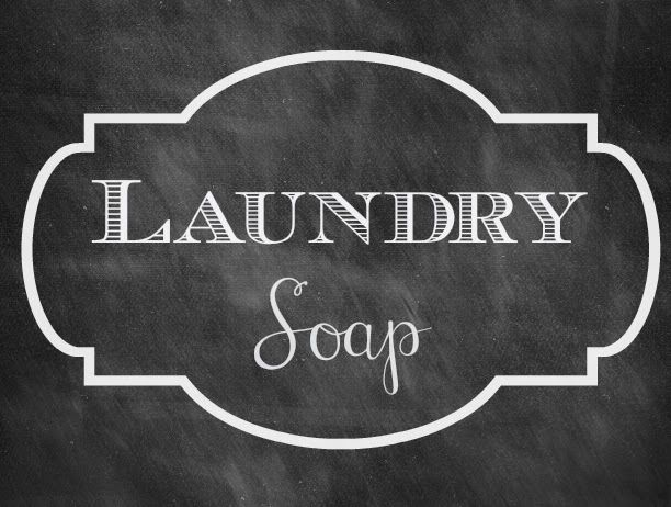 Creating Your Own Chalkboard Labels Laundry Soap Free Laundry