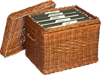 Filing Boxes Decorative Pretty And Practical Wicker File Box For The Home Or Officeadd A