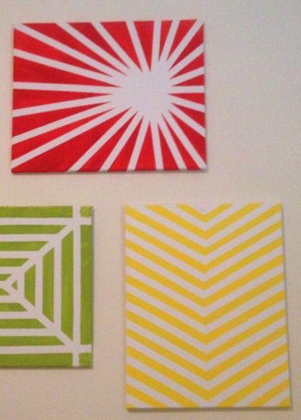 Masking Tape Art Patterns Painters Tape Art Tape Art Painting Tape Designs