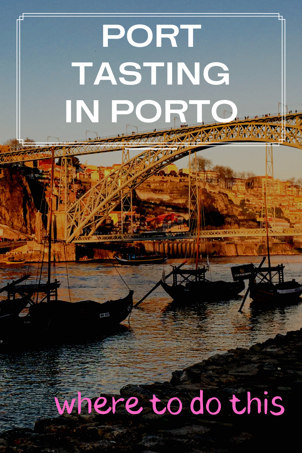 Where to try port in porto and top tips for port tasting in Porto. If you're in Porto, you must try some port, the trade synonymous with the city. There are many ways you can do some port tasting/ port wine tasting in Porto. Read my post for top tips on how to do some Porto port tasting on a visit to Porto. Portugal travel. #porto #port #porttasting #citybreak #portugal #travel #portugaltravel #portwine #winetasting